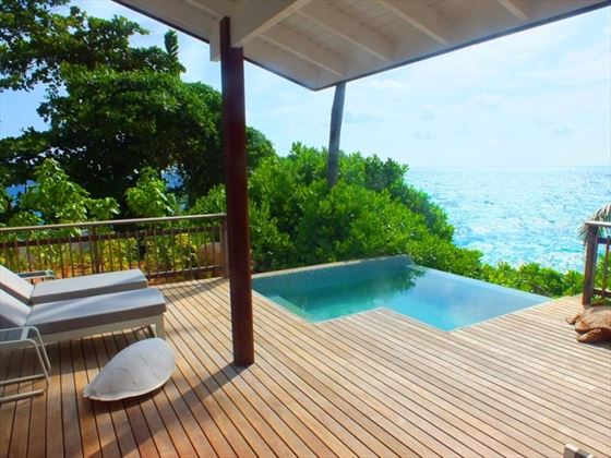 Plunge pool with a view