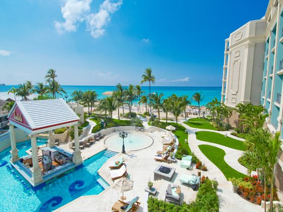 Pool and sun terrace area at Sandals Royal Bahamian Spa Resort