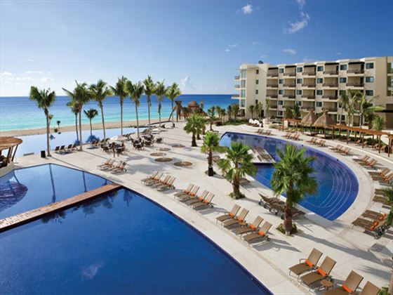 Pool area at Dreams Riviera Cancun Resort & Spa