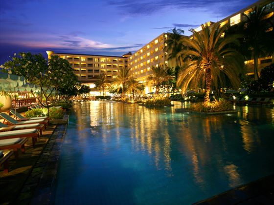 Pool at night at Dusit Thani Hua Hin