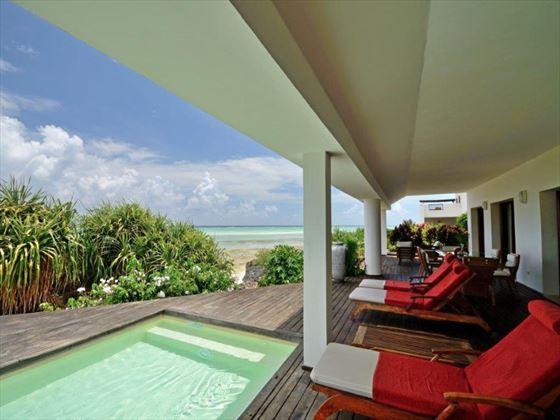 Pool terrace at Essque Zalu Zanzibar