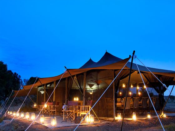 Porini Lion Camp at night