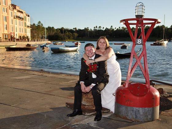 Bride & Groom at Portofino