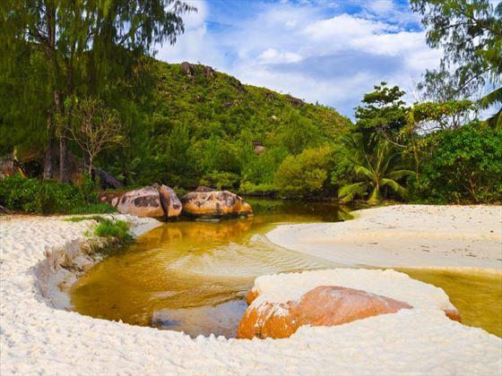 Lagoon at Praslin Island, Seychelles