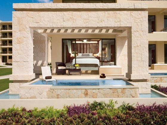 Preferred Club terrace at Dreams Riviera Cancun