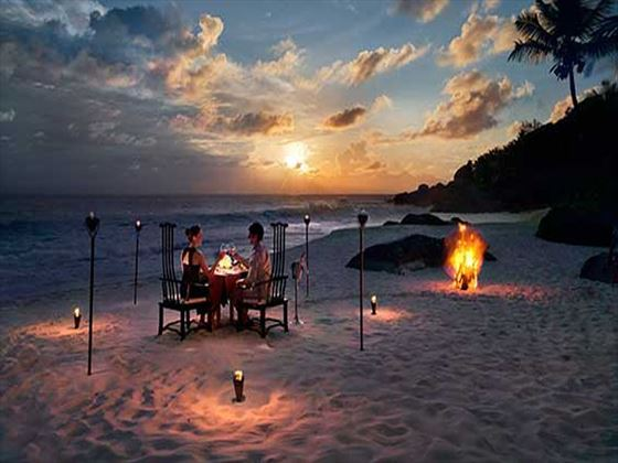 Private beachfront dinner