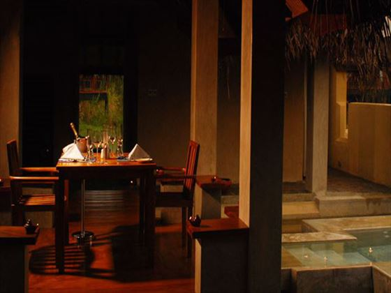 Private dining at Jetwing Vil Uyana