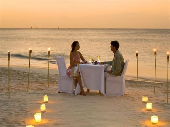 Beautiful private dinner on the beach