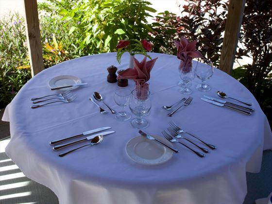 Private outdoor dining at Young Island