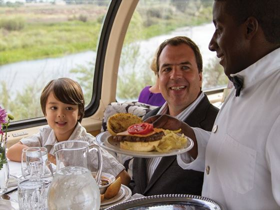 Family ordering onboard the Pullman