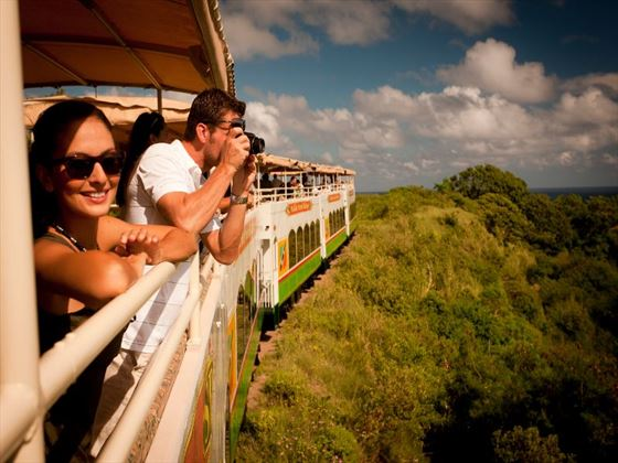 Rail journey through St Kitts