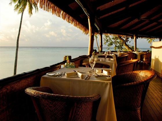 Rapae Beach Restaurant at Pacific Resort Aitutaki