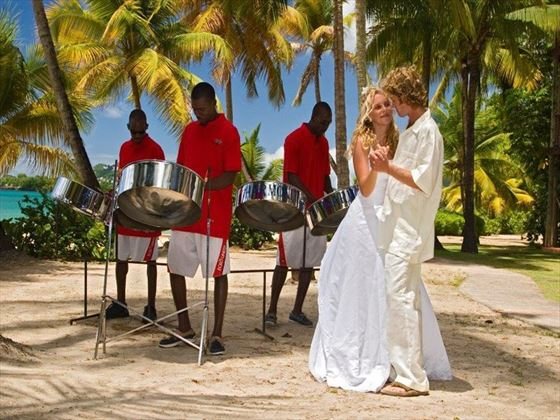 Celebrate with the sound of a Caribbean steel band