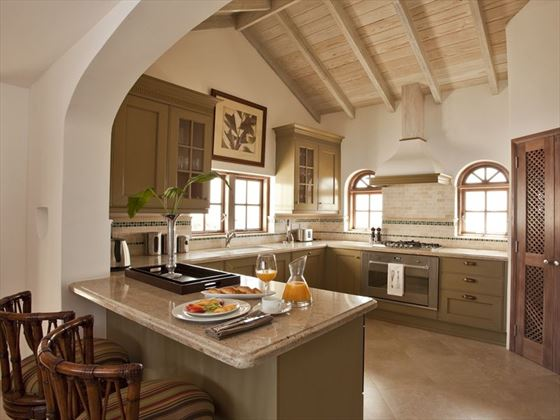The kitchen of Villa Mer Soleil in St Lucia