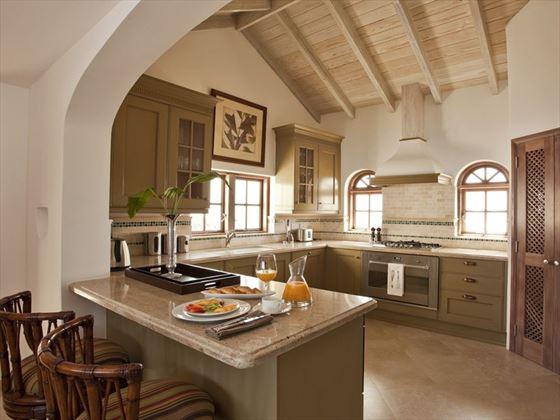 The kitchen of Villa Mer Soleil in St Lucia