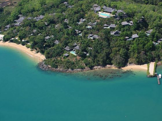 Aerial View of Six Senses Yao Noi