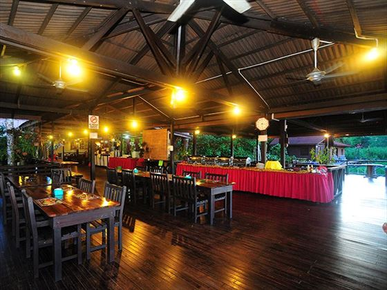 Restaurant at Abai Jungle Lodge, Borneo
