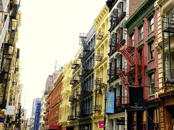Retro style buildings in Soho, Lower Manhattan