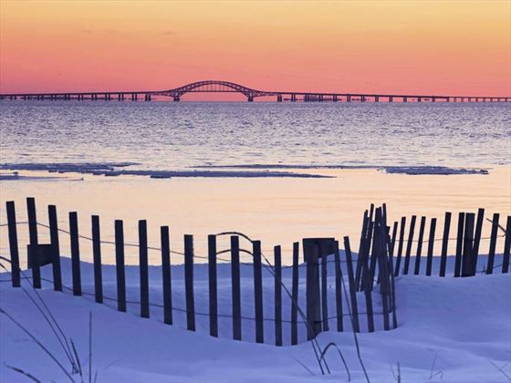 Robert Moses Causeway over Great South Bay, Long Island