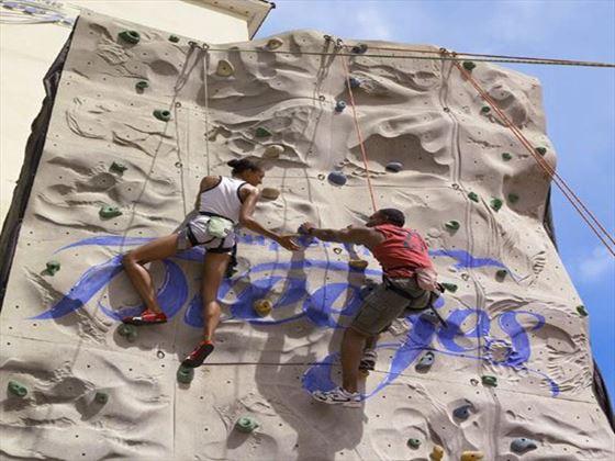 Rock climbing activities at Breezes Bahamas