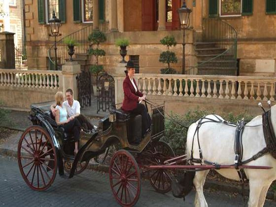 Romantic Carriage Ride Around SHotel Exterioravannah