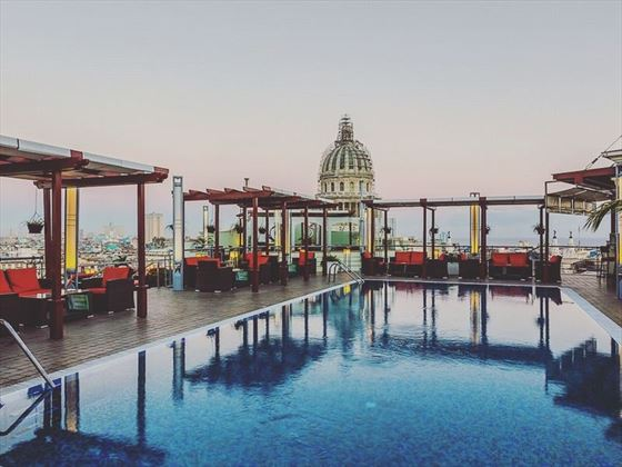 Rooftop pool at Hotel Saratoga, Havana