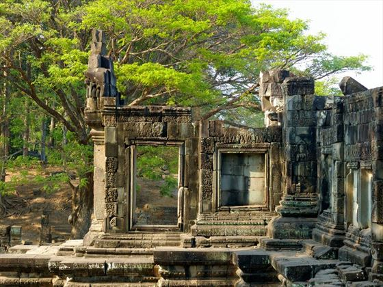 Ruins of temple at Angkor Thom
