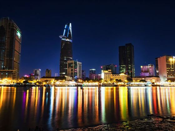 Saigon colours at night