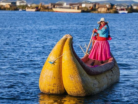 Sailing along Lake Titicaca