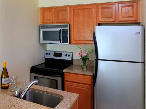 Sailport Waterfront Suites kitchens