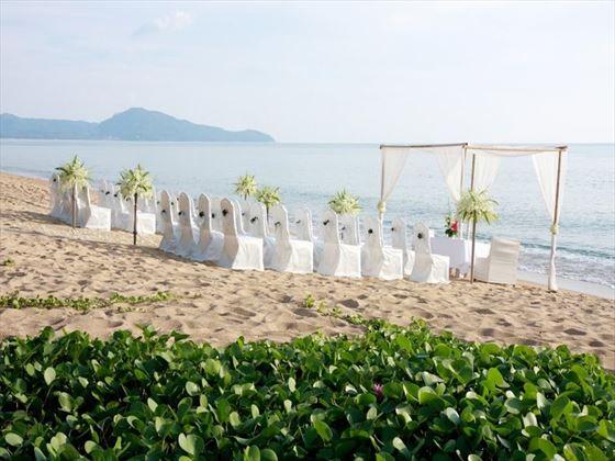Beach wedding setting at SALA Phuket Resort & Spa