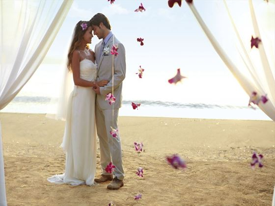 Beach wedding at Couples Sans Souci