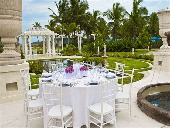 Wedding set up at Sandals Emerald Bay