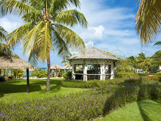 Sandals Grande St Lucian Spa & Beach Resort tropical gardens