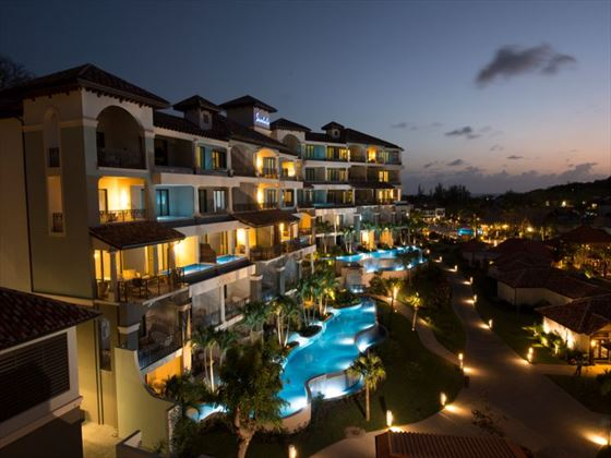 Sandals Grenada at night