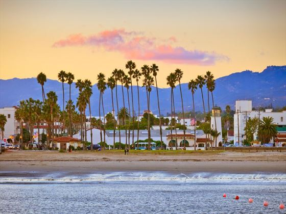 Beach view of Santa Barbara