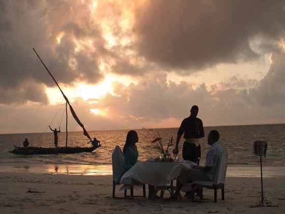 Romantic honeymoon moments at Sarova Whitesands Beach
