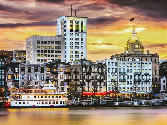 Savannah waterfront, Georgia