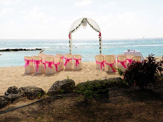 A stunning backdrop for you Barbados wedding at Sugar Bay