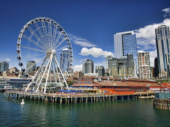Seattle waterfront and ferris wheel