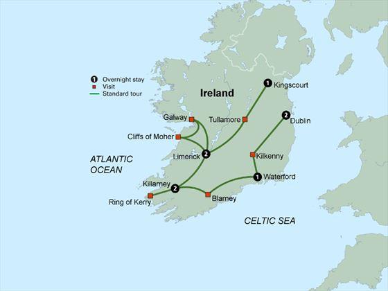 Shades of Ireland itinerary