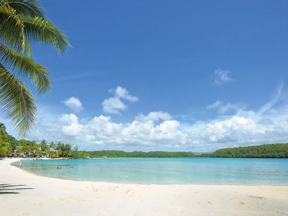 One of three beaches at Shandrani