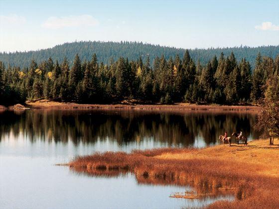 Siwash Lake Wilderness Resort horseback riding