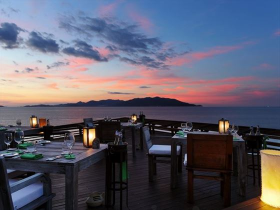 Dining on the Rocks, Signature Resturant at Six Senses Samui