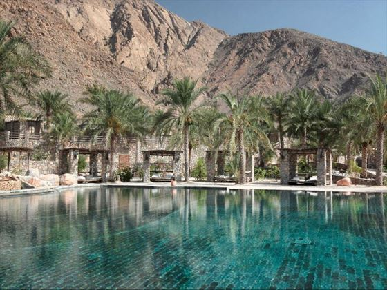 Six Senses Zighy Bay, One of two pools