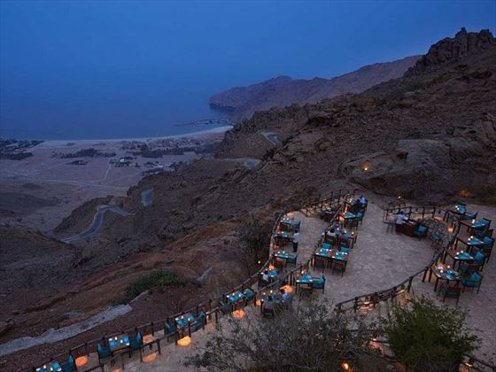 Six Senses Zighy Bay, Sense on the Edge restaurant