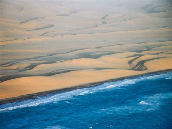 Skeleton Coast from above