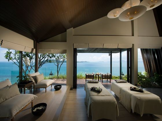 Spa treatment suite at Conrad Koh Samui, Thailand