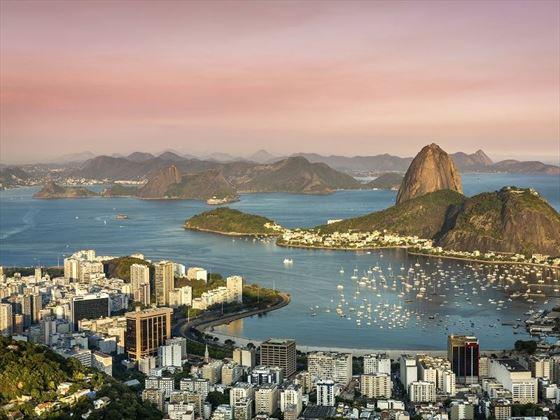 Spectacular Sunset over Rio de Janeiro, Brazil