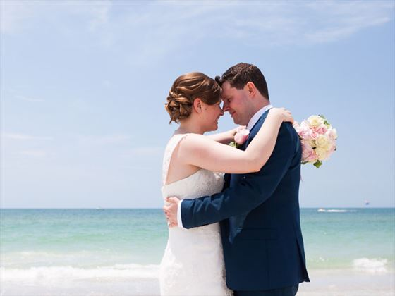 Romance for the newly weds at Sheraton Sand Key Resor